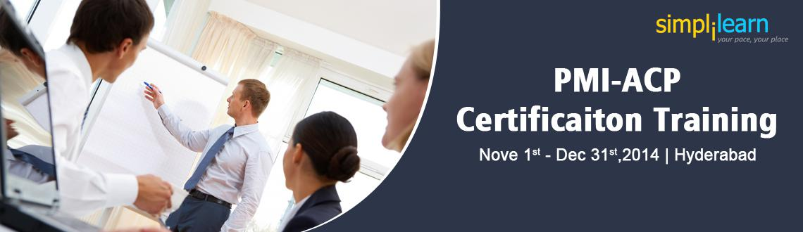 Book Online Tickets for PMI-ACP Certificaiton Training in Hydera, Hyderabad. PMI-ACP Certification in HYDERABAD.