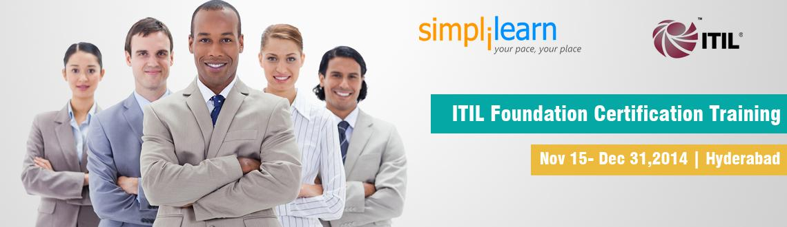 ITIL Foundation Certification Training in Hyderabad on Nov-Dec,2014