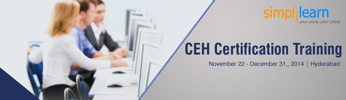 Book Online Tickets for CEH Certification Training in Hyderabad , Hyderabad. CEH Certification Training in Hyderabad on Nov-Dec,2014
