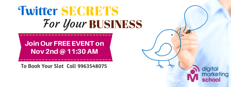 Book Online Tickets for Twitter Secrets For Your Business, Hyderabad. Are you ready to market YOUR BUSINESS on