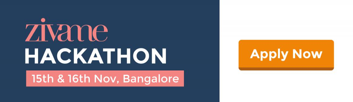 Book Online Tickets for Zivame Hackathon - Calling all Web Ninja, Bengaluru. Zivame is hiring Web developers. Show your coding chops in a 24 hour hackathon and whizz away with a job.Tech interviews are passé. Join our 24 hours hackathon with Zivame and showcase your coding skills. Interact with the Zivame team and grab