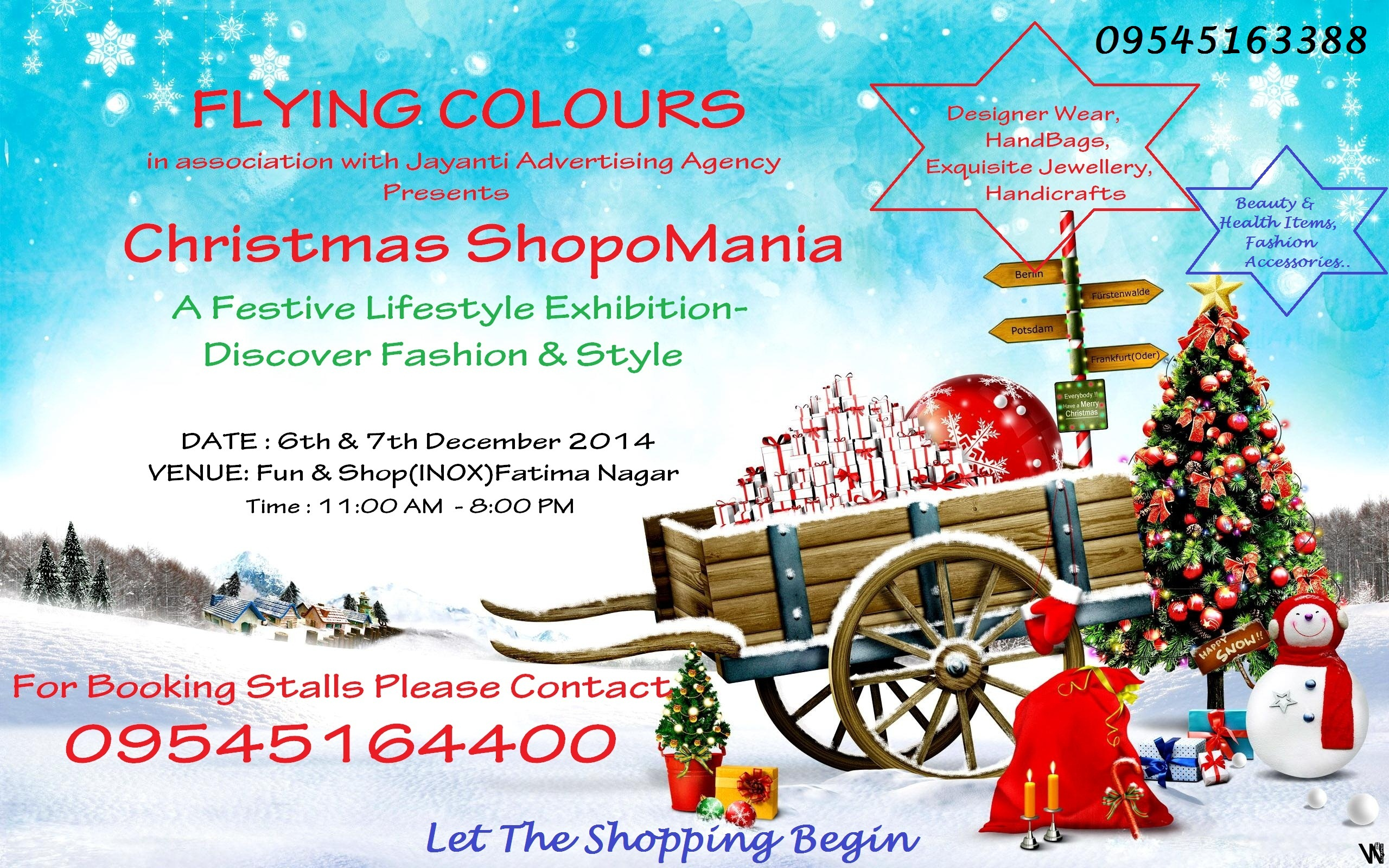 Book Online Tickets for Christmas ShopoMania :A Festive Lifestyl, Pune. Lifestyle Exhibition : Flying Colours Flying Colours-Exhibitors 