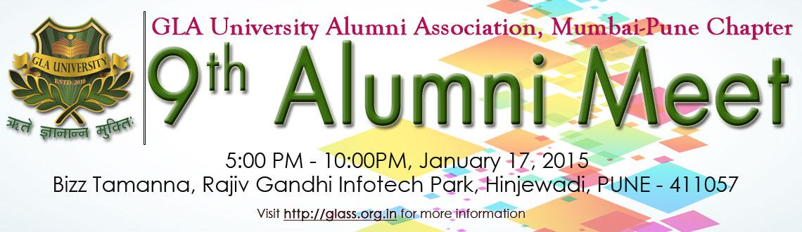 Book Online Tickets for GLA University Alumni Meet - 2015 : Pune, Pune. GLA University Alumni Association, Mumbai-Pune Chapter.