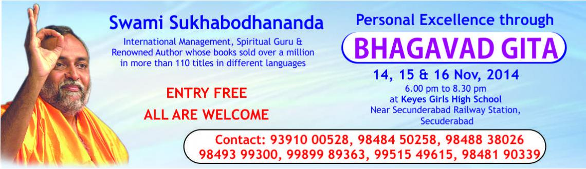 Talk on Personal Excellence thru Bhagavad Gita @ Hyderabad