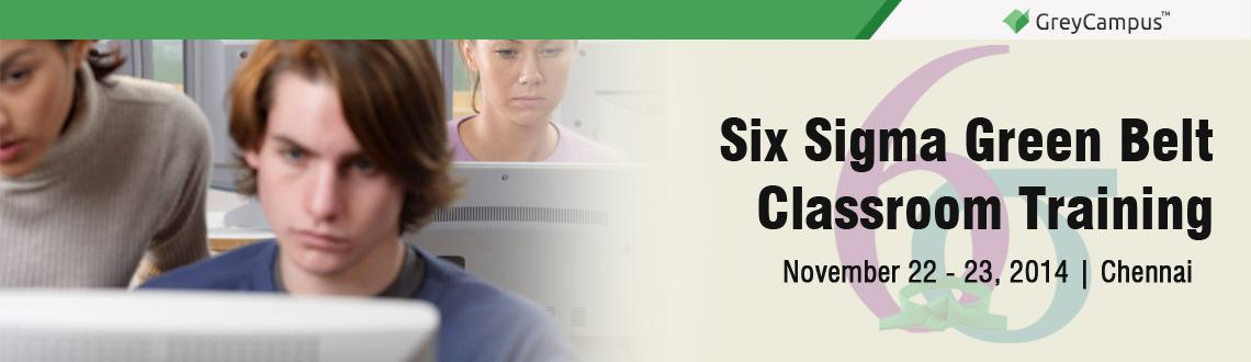 Six Sigma Green Belt Classroom Training in Chennai