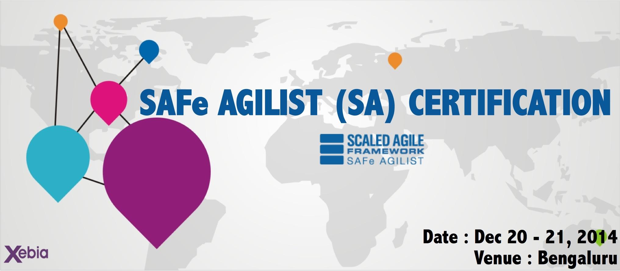 Safe Agilist Sa Certification Bengaluru Bengaluru Meraevents
