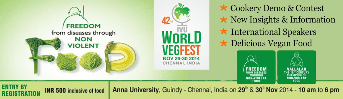 Book Online Tickets for World Veg Fest, Chennai. 