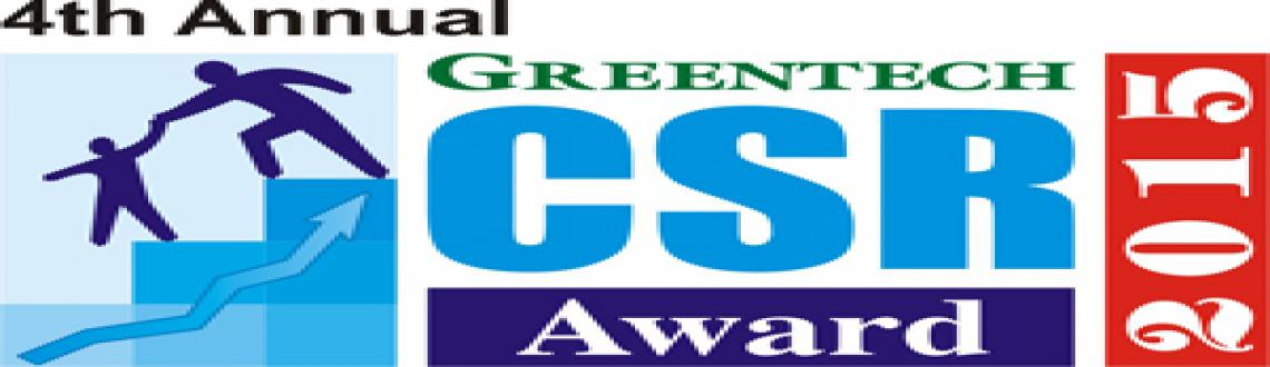 4th Annual Greentech CSR Award - 2015