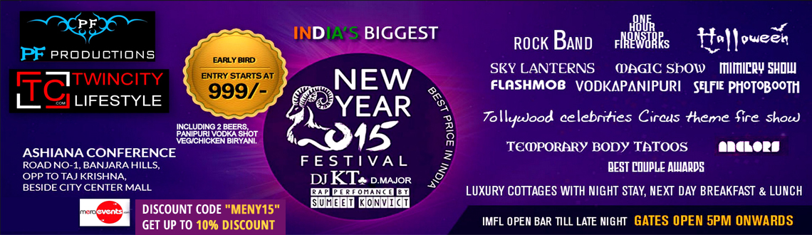 Indias Biggest New Year Festival 2015 @ Ashiana