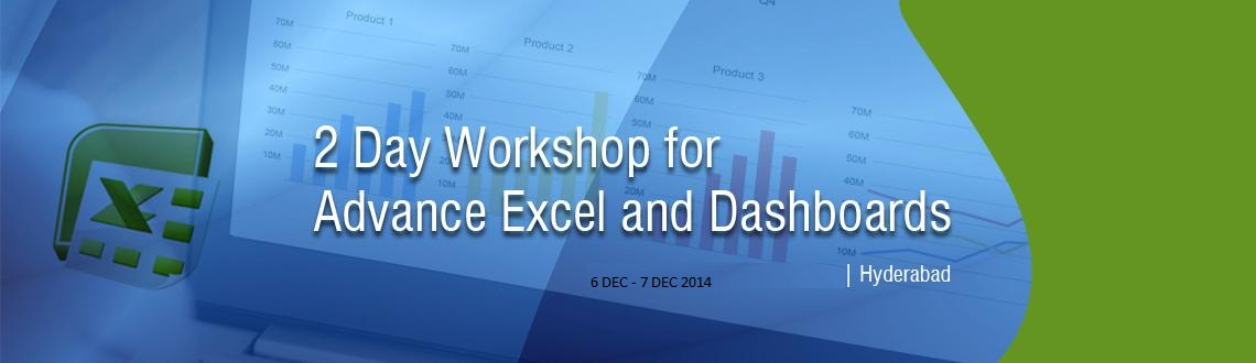 2 Day Workshop for Advance Excel and Dashboards-Hyderabad