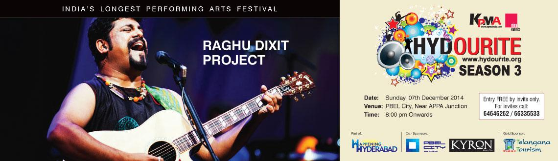 Book Online Tickets for Hydourite - Raghu Dixit Project, Hyderabad. One of India\\\'s best contemporary folk bands, Raghu Dixit's unique brand of infectious, happy music transcends age, genre, and even language. His music is strongly rooted in Indian traditions and culture and is presented with a very contempor