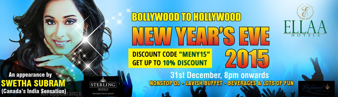 New Year Event 2015 in Hyderabad, Book Passes/Tickets online for Bollywood and Hollywood - New Years EVE 2015. Get Event, Live Show and Parties Detail