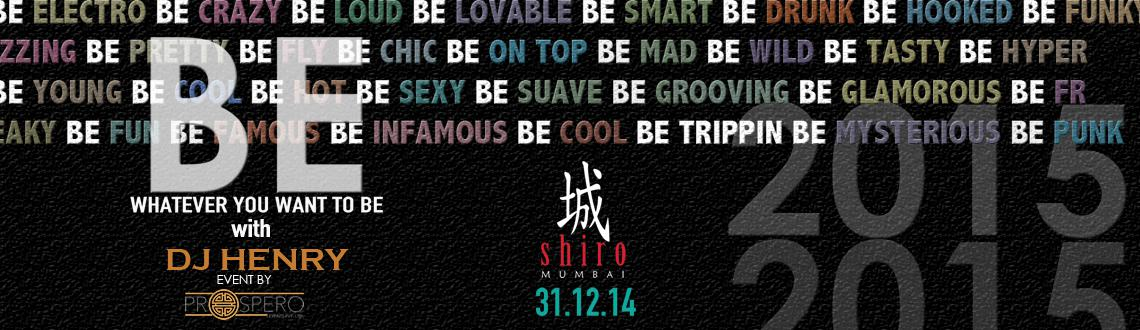 BE At SHIRO This New Years Eve With DJ HENRY