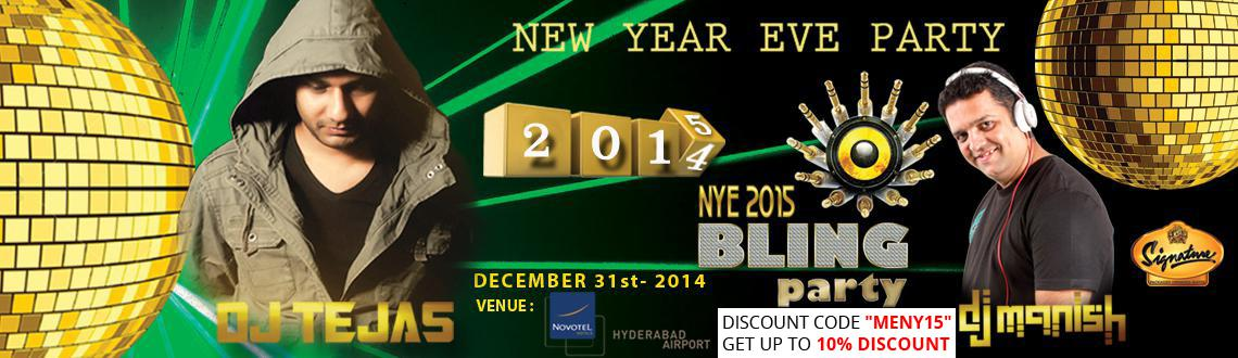 New Year Event 2015 in Hyderabad, Book Passes/Tickets online for NYE 2015 Bling Party. Get Event, Live Show and Parties Details.