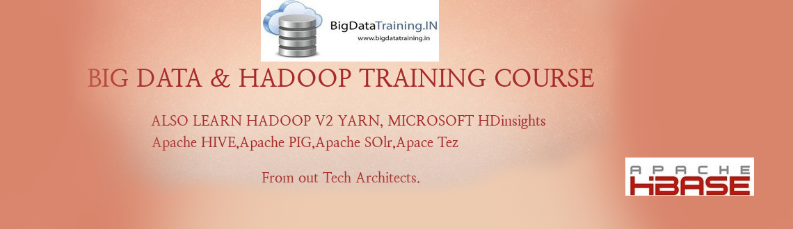 Book Online Tickets for Big Data chennai training, Chennai. Apache Hadoop! A Solution for Big Data!Hadoop is an open source software framework that supports data-intensive distributed applications. Hadoop is licensed under the Apache v2 license. It is therefore generally known as Apache Hadoop. Hadoop has bee