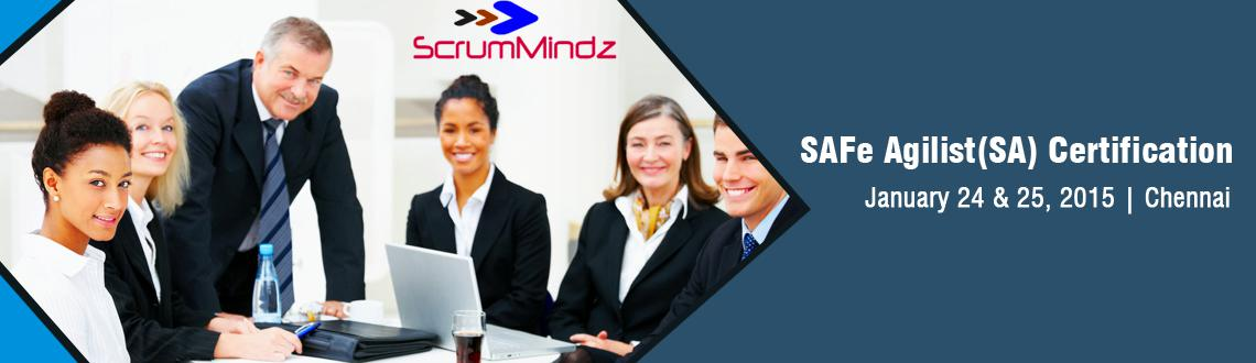 Book Online Tickets for SAFe SA (Scale Agile) Certification -Che, Chennai. SAFe Agilist (SA)Certification training in Chennai, professionals will gain the knowledge necessary to run an enterprise agile transformation by leveraging the Scaled Agile Framework®. This course will enable you to understanding of how the
