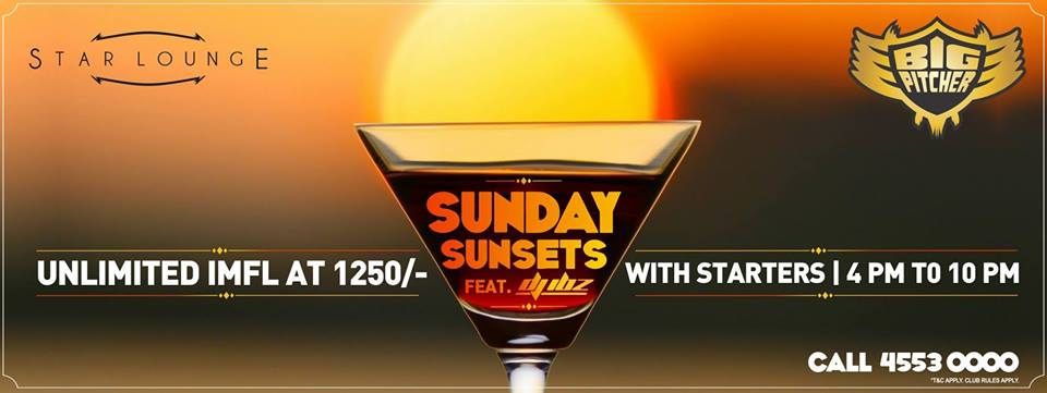 Book Online Tickets for Sunday Sunsets, Bengaluru.  Groove with DJ IBZ this Sunday at Big Pitcher. Enjoy the evening with unlimited IMFL & Starters at just Rs 1250/-