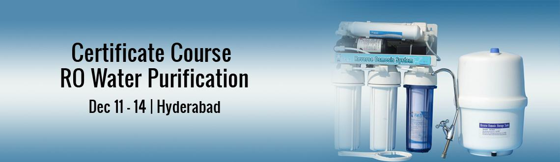 Book Online Tickets for Certificate Course on RO Water Purificat, Hyderabad. Certificate course on RO water purifiers domestic and commercial. We make you water professional and we will assist you in getting job and also this is 100% percent income guarantee program with very low investment and with huge returnsTraining is he
