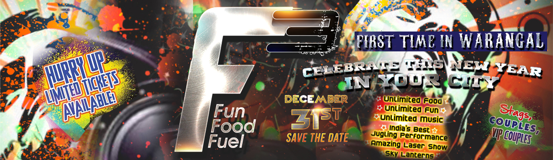 F3 - Biggest New Year Party 2015 at Warangal