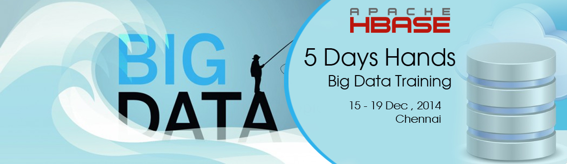 Book Online Tickets for Big Data 5 days Training in Chennai, Chennai. Big data is a collection of data sets so large and complex that it becomes difficult to process using on-hand database management tools or traditional data processing applications. The challenges include capturing, storing, searching, transferring, a