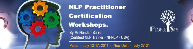 Book Online Tickets for NLP Practitioner Certification Workshop , NewDelhi. Neuro Linguistic Programming (NLP) encompasses the three most influential components involved in producing human experience: neurology, language and programming. The neurological system regulates how we function, language determines how we interface