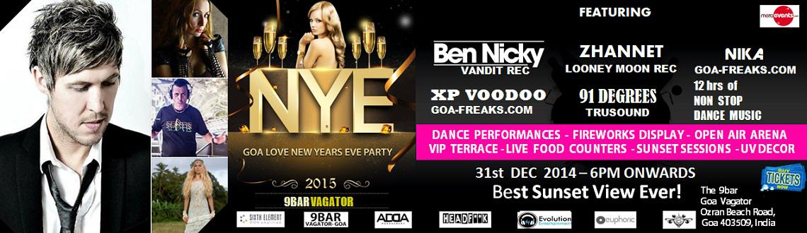 "Book Online Tickets for GOA LOVE NEW YEARS EVE PARTY, Vagator. Goa! The name itself has become synonymous with the word ""party"". The image is not restricted to India alone, Goa is famous across the globe.