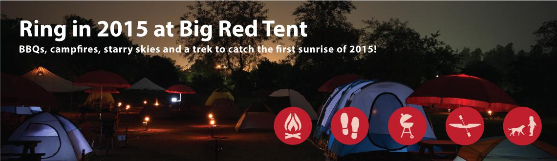Book Online Tickets for Bring in 2015 Camping with BRT @ Karnala, Mumbai. This New Year\\\'s Eve Big Red Tent invites you to start the first day of the New Year on a fresh, natural note. You will enjoy the starry night of the new year in the privacy of your tent and you could wake up to catch the first rays of 2015 in a se