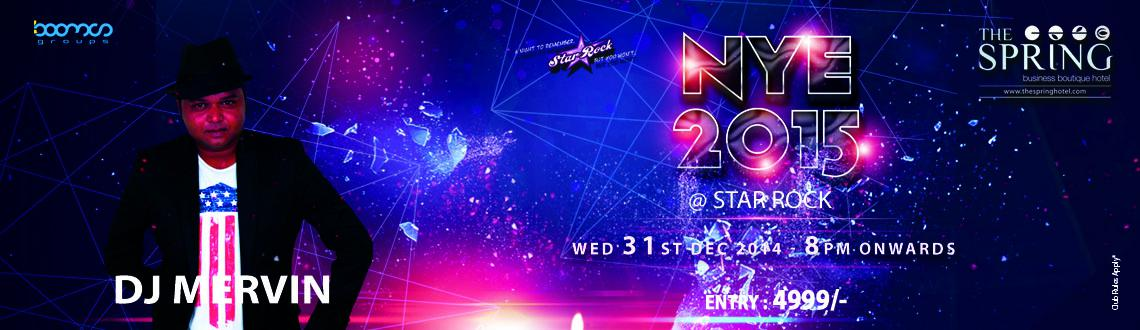 Book Online Tickets for NYE 2015 @ STAR ROCK, Chennai. Making you clueless about where to go and celebrate New year\\\'s Eve Party.  Don\\\'t worry, STAR ROCK is hosting a grand New year\\\'s Eve party at Spring Hotel in Chennai which is famous for its affluent in ambience and impeccable in services