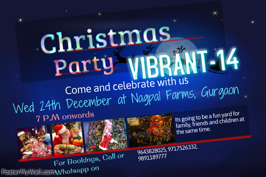 Book Online Tickets for VIBRANT 2014 Dj war Christmas Carnival, NewDelhi. Our event is a fundraising event for a NGO- SARTHAK PRAYAS.. which is associated with old age people child care and protection. We have joined there hands for fundraising for their upcoming project which would be regarding building up a shelter for o