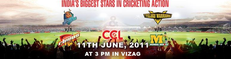 CCL - Celebrity Cricket League T20 Matches on June 11th in Vizag