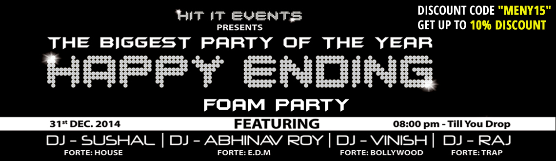 Happy Ending NYE 2015 - Foam and Pool Side Party at Treasure Island