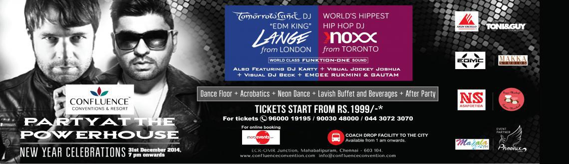 Book Online Tickets for Confluence NYE 15, Chennai. The much-awaited new year\\\'s eve party at Confluence Convention Center in Chennai is grabbing party freaks attention. People of all walks of life are evincing interest to join the Party At The Power House for