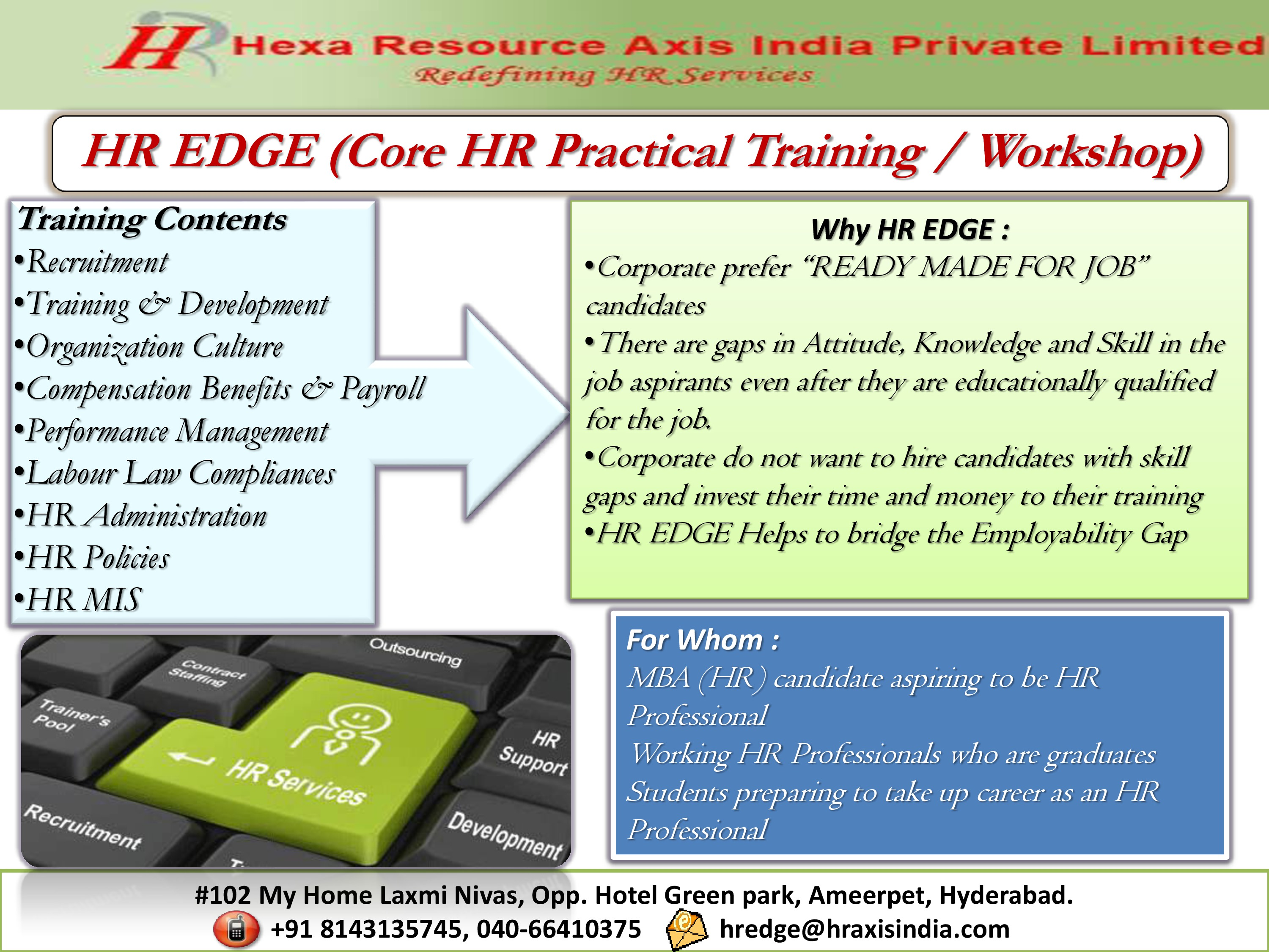 Core HR Training / Workshop @ Hyderabad