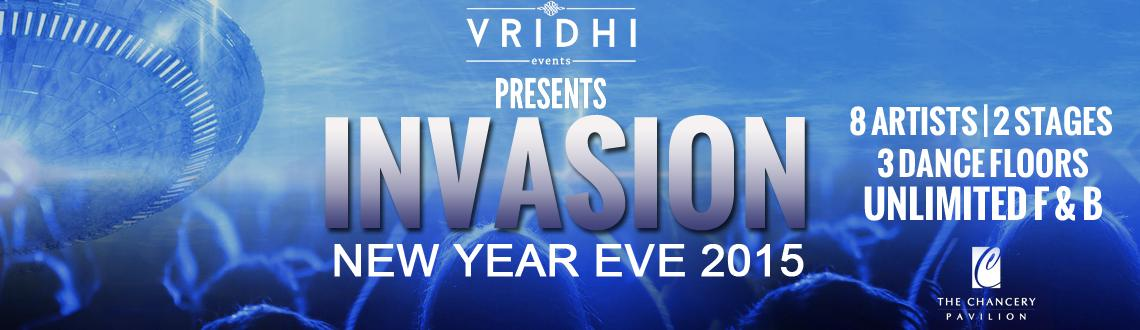 Book Online Tickets for INVASION - 2015, Bengaluru. Party big and party hard at Chancery Pavilion with 8 artists and unlimited F & B. Three dance floors to keep you on your toes as one can shuffle between Poolside stage and the Ballroom stage playing different genre\\