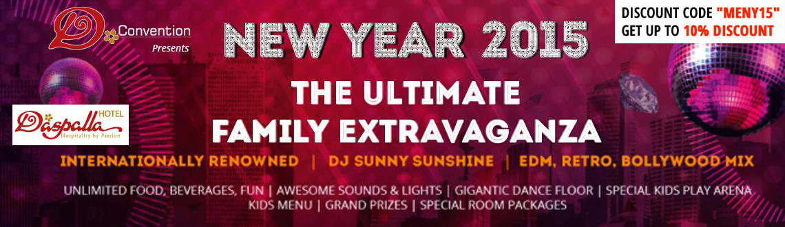 Book Online Tickets for NYE 2015 - The Ultimate Family Extravaga, Hyderabad. 