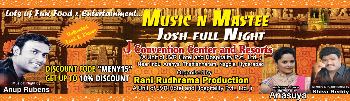 Music N Mastee - NYE 2015 with Anup Rubens