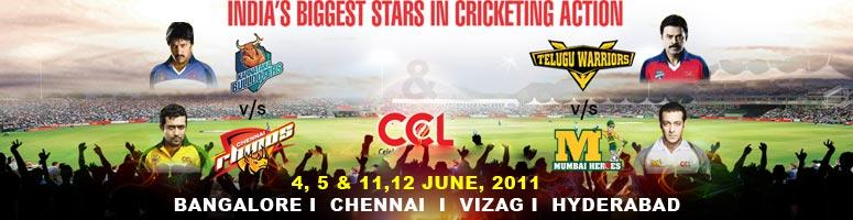 "Book Online Tickets for CCL - Celebrity Cricket League T20 Match, Hyderabad. For the first time in India, the film fraternities of India encompassing South "" Tamil, Telugu, Kannada - and Bollywood will come together to play in the Twenty-20 format in CCL
