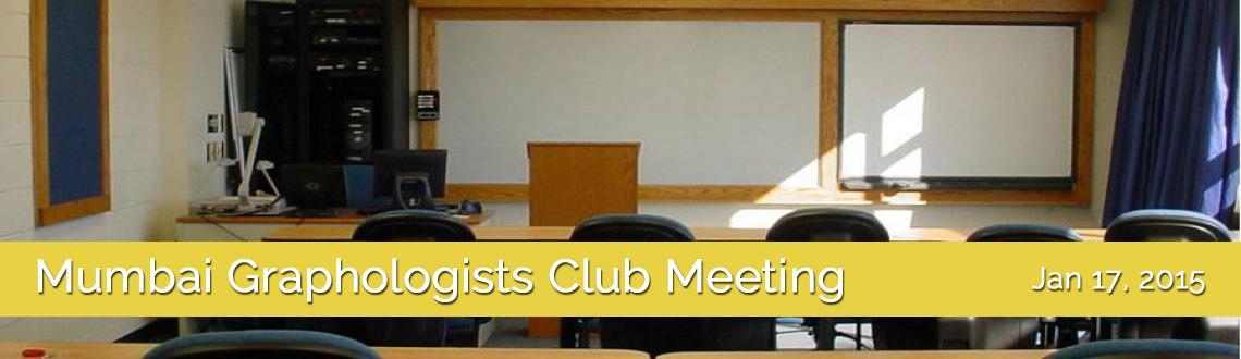 Mumbai Graphologists Club Meeting - 7th Demo