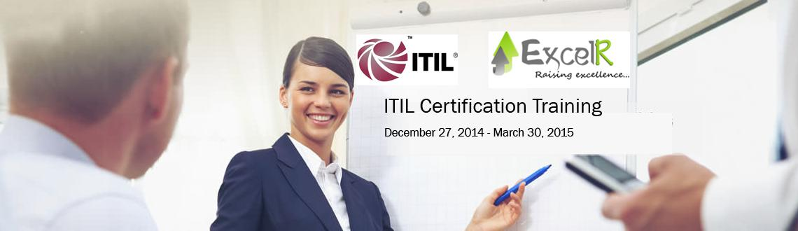 Book Online Tickets for ITIL Certification Training in Bangalore, Bengaluru. ITIL Foundation Certification Training    ITIL Foundation is the entry-level certification within the ITIL qualification scheme. ExcelR offers Classroom training on ITIL Foundation exam preparation. Our Classroom training sessions are based