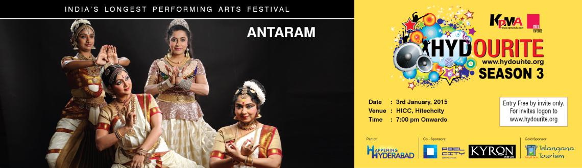Book Online Tickets for Antaram, Hyderabad. This thematic dance theatre production presents the composite content of the 4 chosen characters – Rhamba, Vasavi, Kannagi and Andal, depicting divine feminine form powerfully. Suhasini Maniratnam portrays Rhamba with her unique theatrical pres