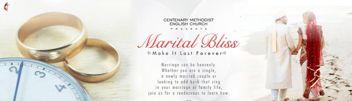 Book Online Tickets for Marital Bliss - Make it last forever | M, Hyderabad. Marriage can be heavenly. Whether you are a single, a newly married couple or looking to add back that zing in your marriage / family life, join us for a rendezvous to learn how. Marital Bliss - Make it last forever A not for profit seminar on mana