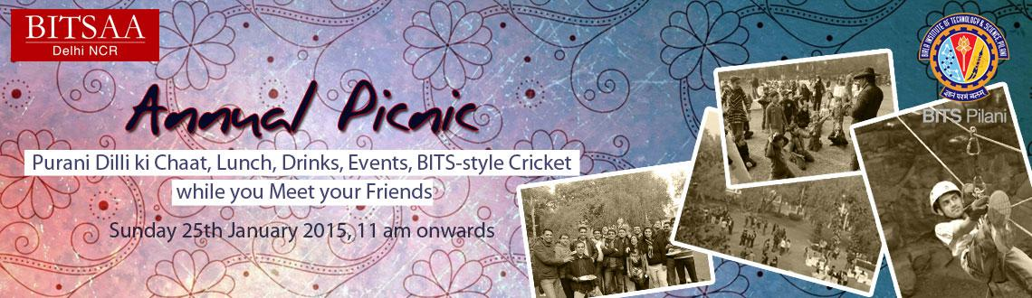 Book Online Tickets for BITSAA Delhi NCR - Annual Picnic, NewDelhi. Once again it's time for the eagerly awaited BITSAA Family Picnic . Let us all get together with family & friends on
