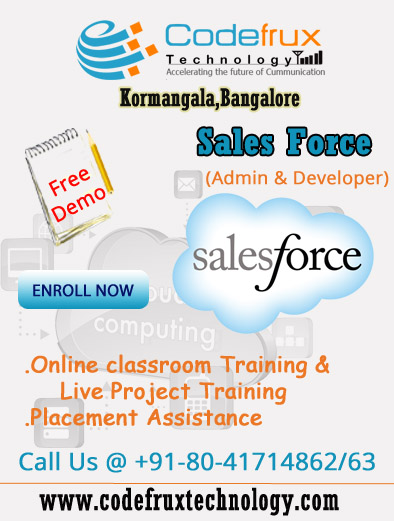 Book Online Tickets for Salesforce Free online Demo, . Greetings from Codefrux Technologies!