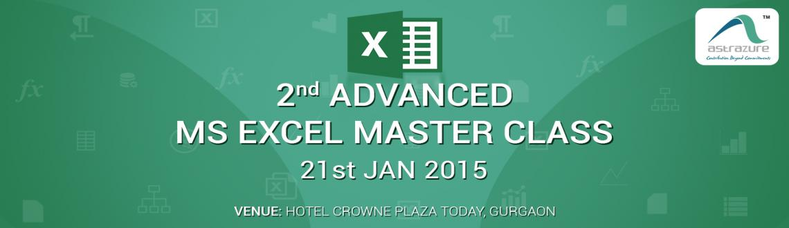2nd Advanced MS Excel Masterclass