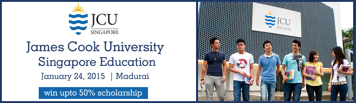 James Cook University Singapore Education Fair 2015 at Madurai