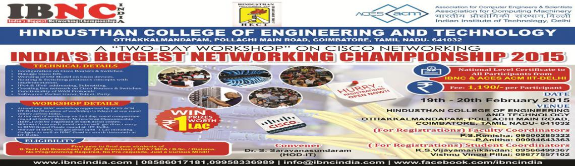 IBNC-2015 : Indias Biggest Networking Championship at Hindusthan College of Engineering and Technology