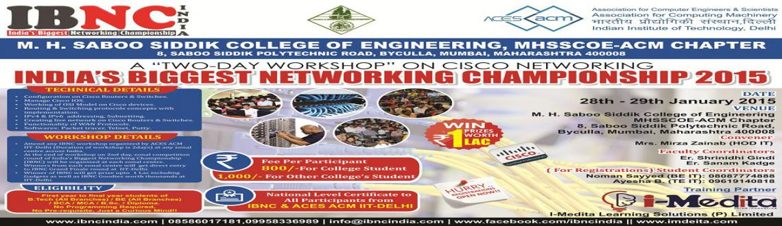 IBNC-2015 : Indias Biggest Networking Championship at M.H.Saboo Siddik College of Engineering