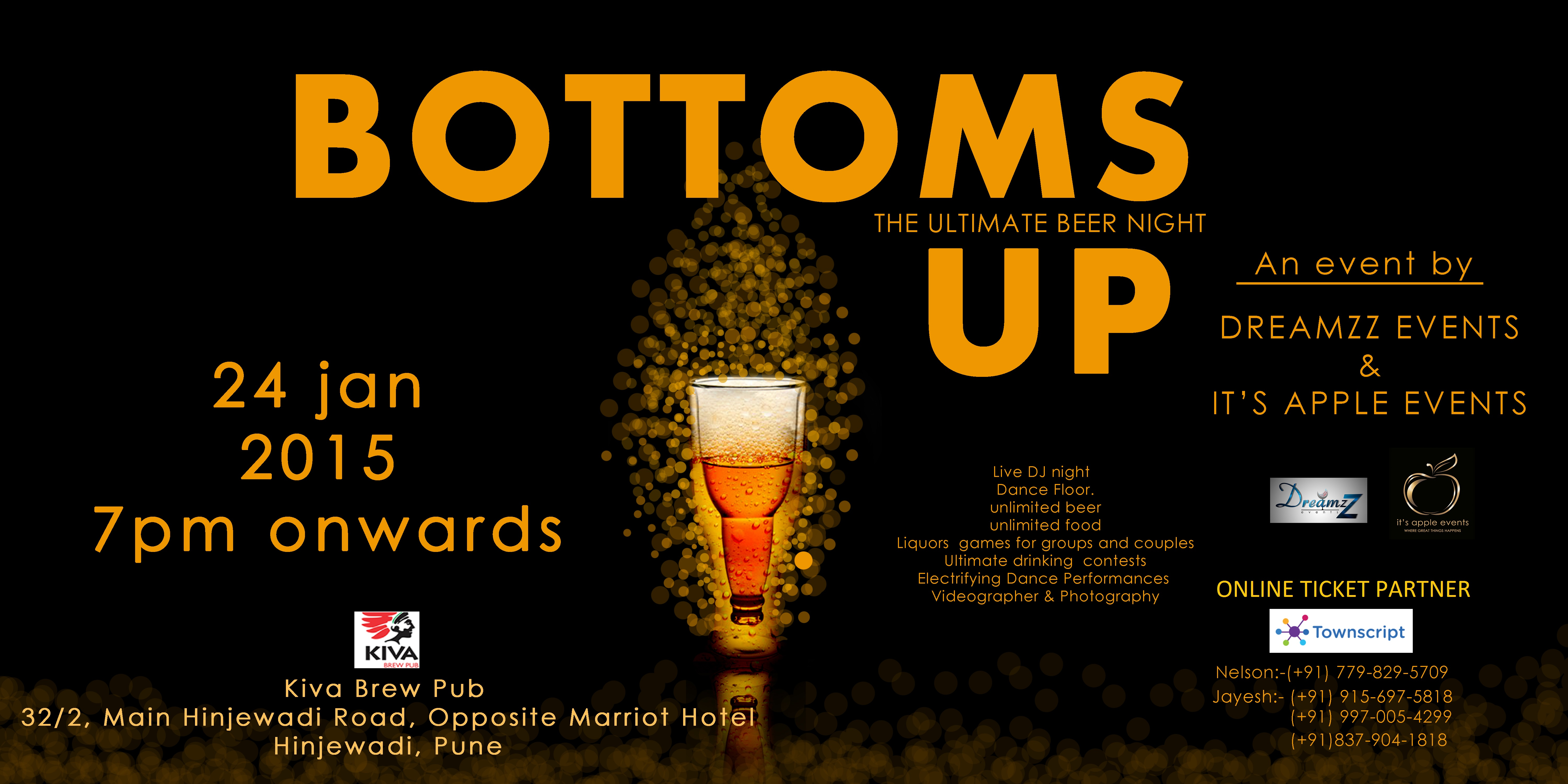 Bottoms Up. The ultimate beer night