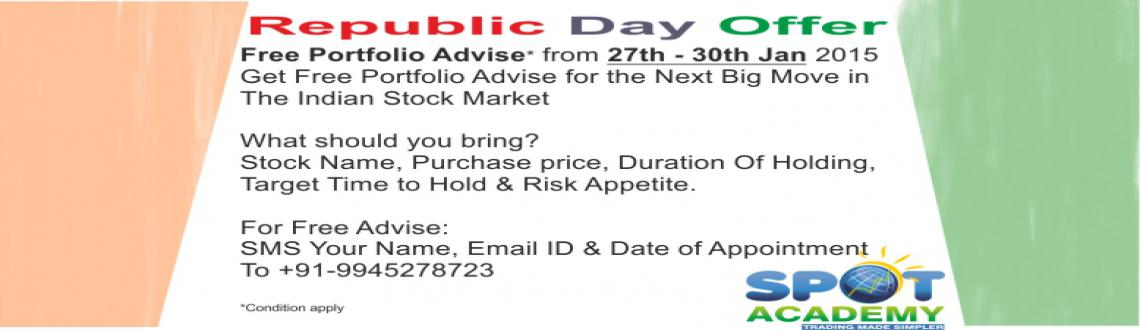 Book Online Tickets for Free Portfolio Advise, Bengaluru. Free Portfolio Advise on 27th - 30th Jan 2015Get free portfolio advise for the next BIG move in the Indian Stock Market. What should you bring? Stock name, Purchase price, Duration of holding,  Target time to hold & risk apppetite.  For