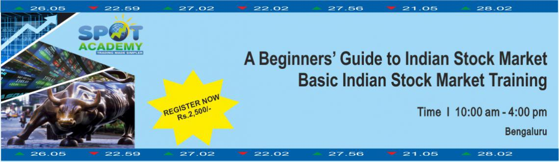 Book Online Tickets for Basic Indian Stock Market Training, Bengaluru. Basic Stock Market Course for beginners